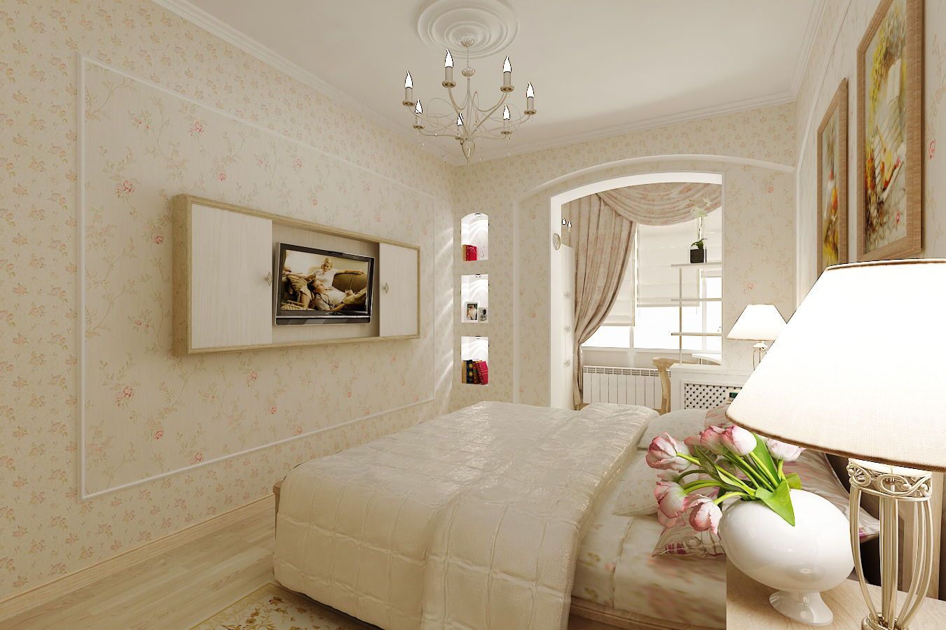 Интерьер дизайн спальни совмещенной с лоджией фото..