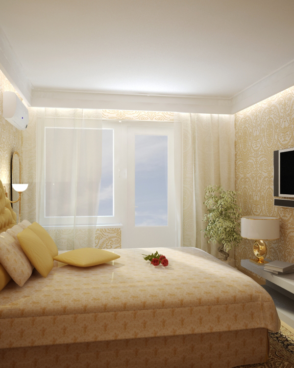 дизайнерские идеи интерьера: Дизайн спальни в «хрущевке» (94 фото): реальные фото