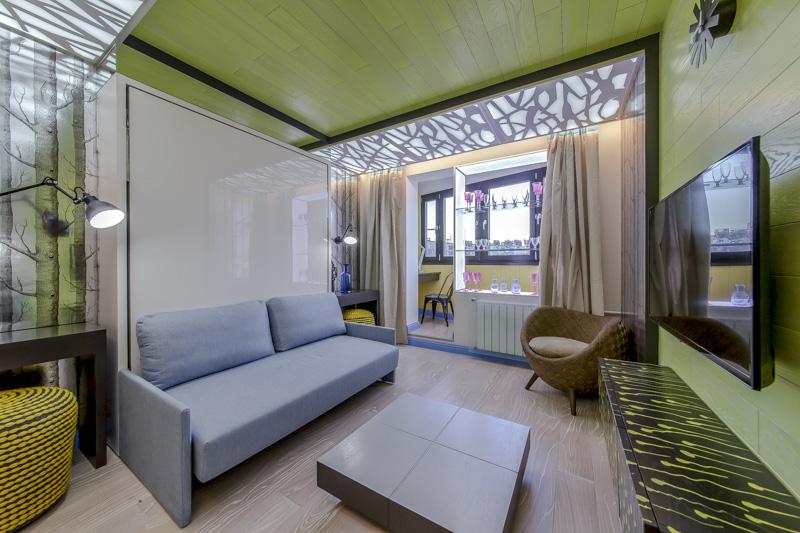 Детская спальня на балконе с гостиной дизайн фото.