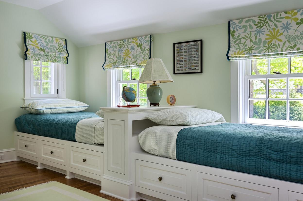 Две кровати в одной спальне дизайн