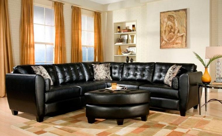 кожаный черный диван 27 фото угловой диван из кожи в интерьере