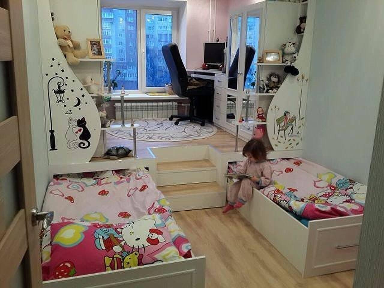 Кровать подиум для двоих детей своими руками