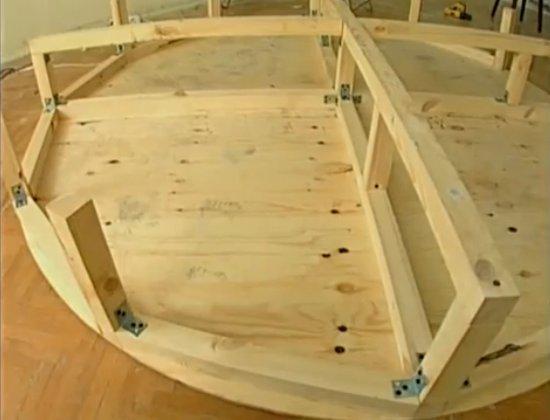 Круглые кровати как сделать