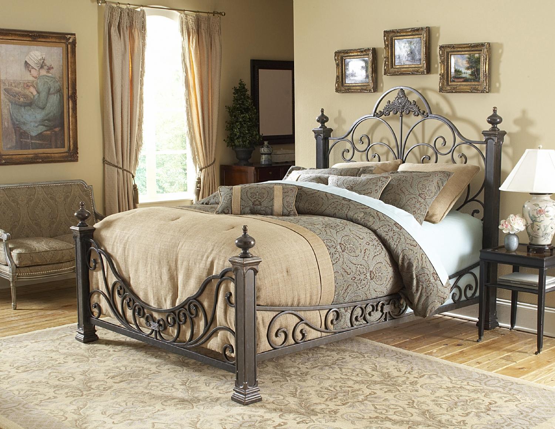 Дизайн спальни в кованном стиле.фото