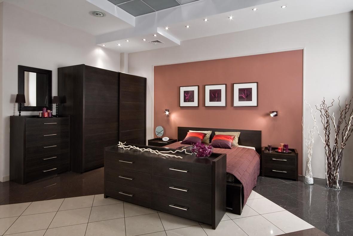 Дизайн спальни с мебелью цвета венге дизайн