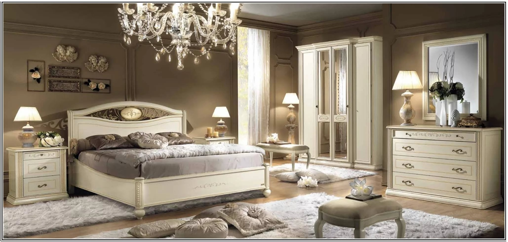 Mixing White And Dark Wood Furniture In Bedroom Home