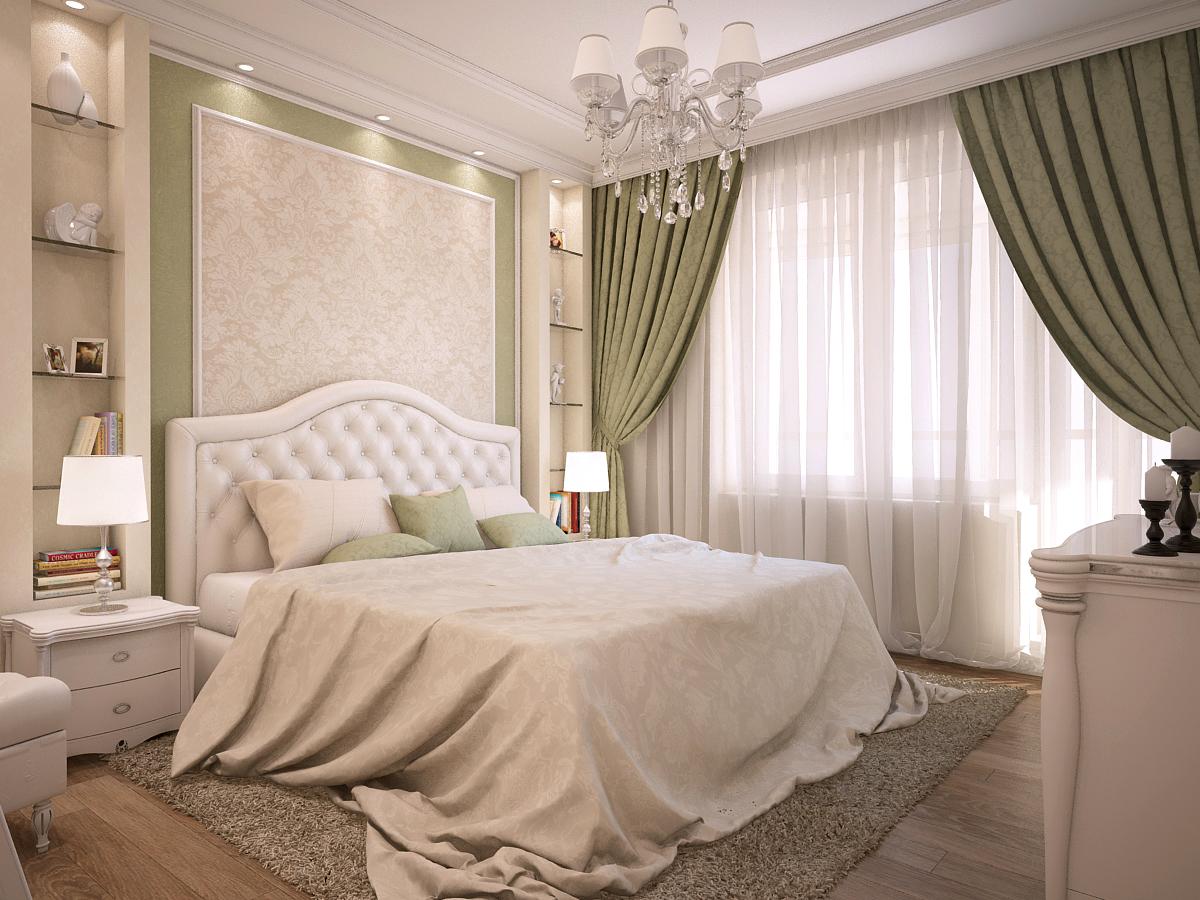 Спальня в голубых тонах дизайн фото установлен