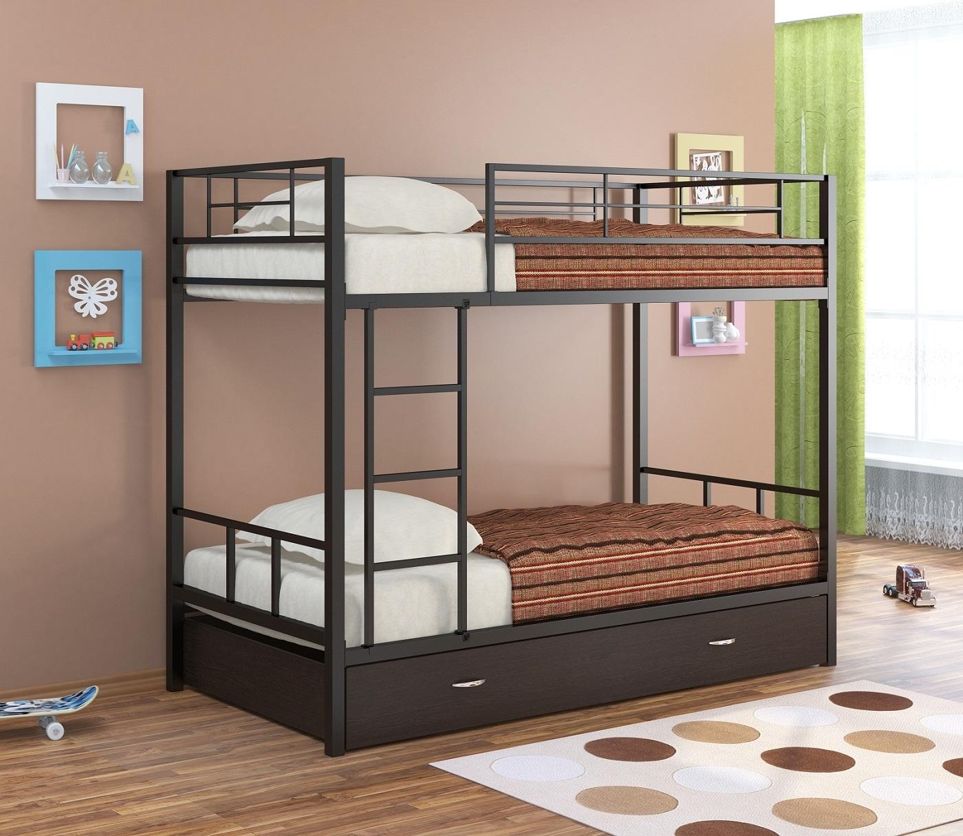 металлические двухъярусные кровати 64 фото железные модели для