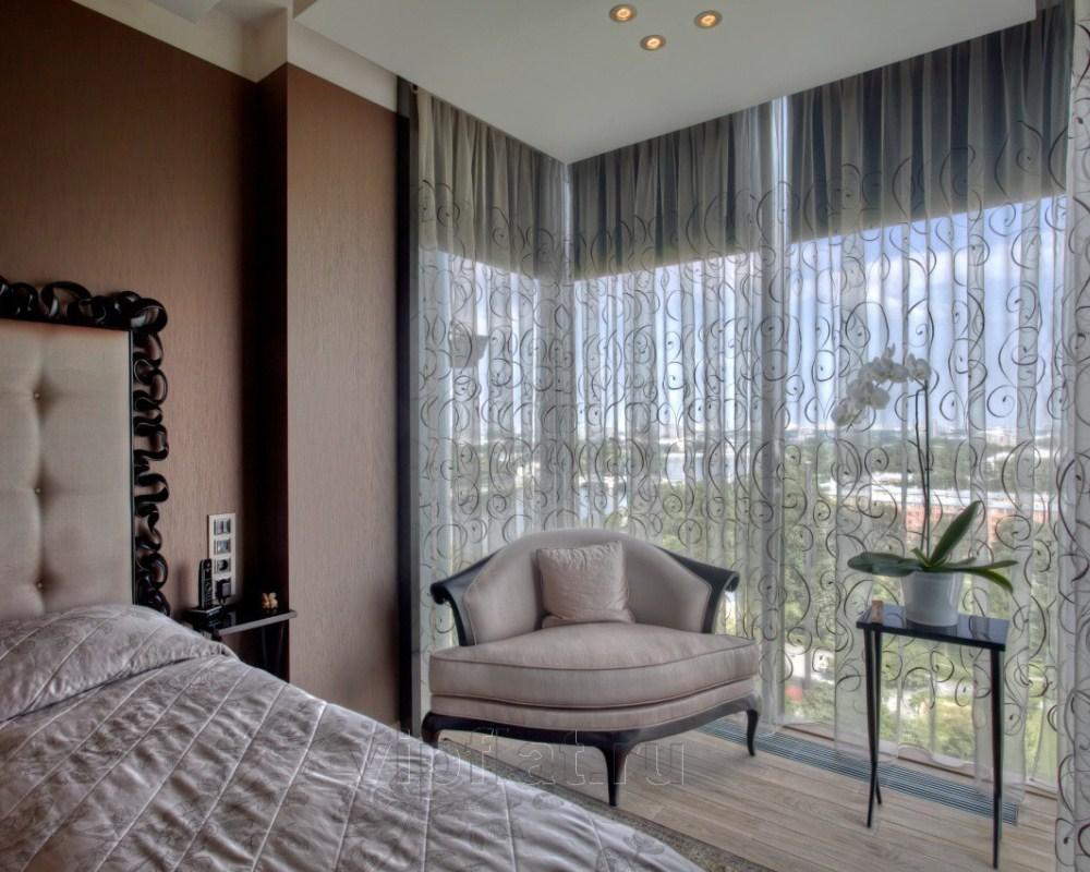 Оформление окна в спальне (53 фото): дизайн окна, как оформи.
