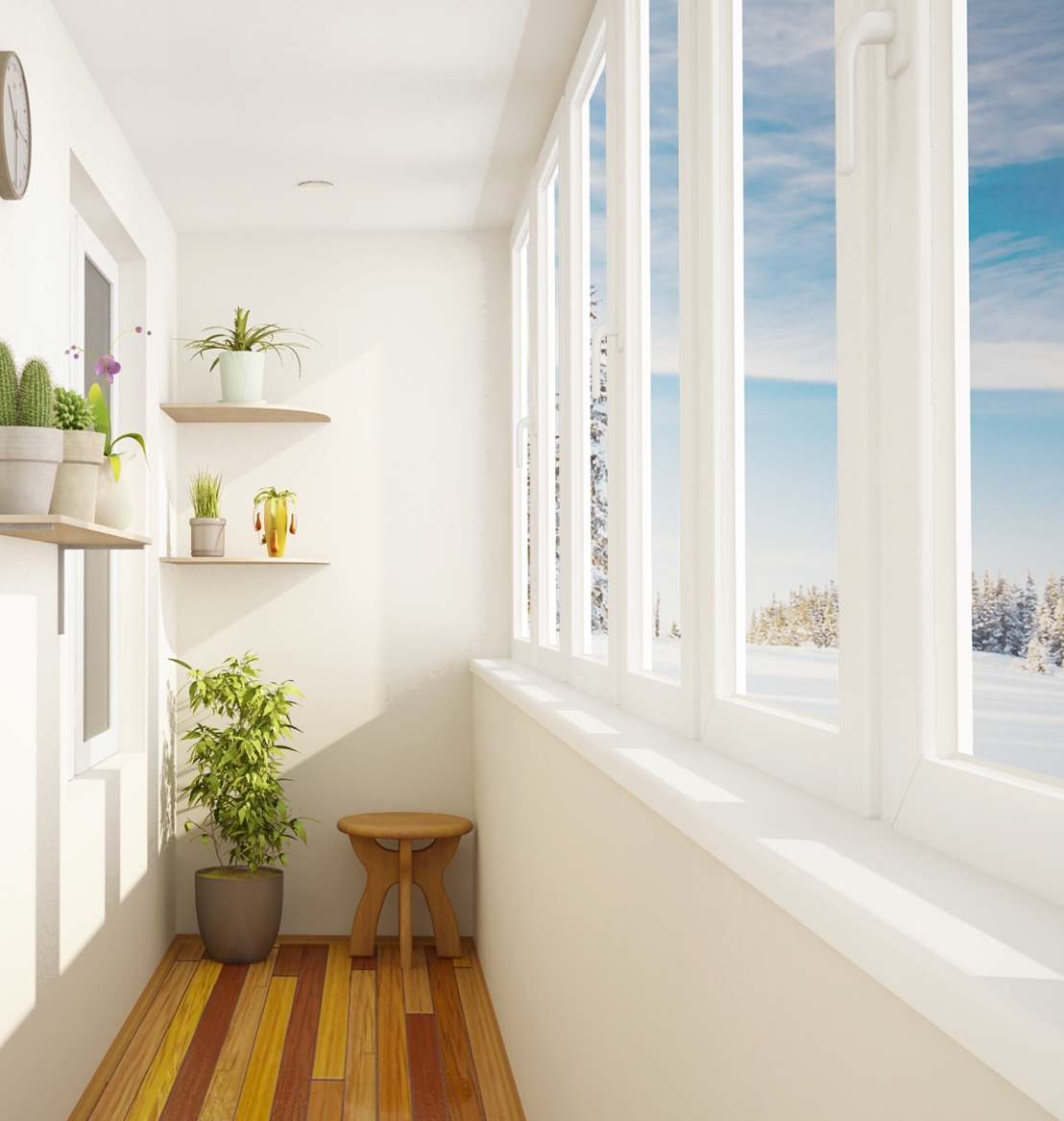 Окна на лоджию (32 фото): установка и оформление балконов, р.
