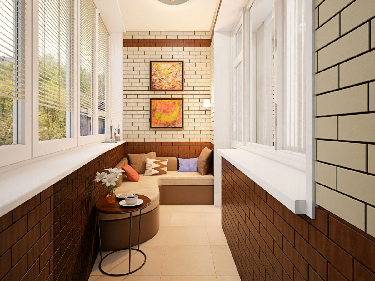 Варианты окраски лоджий и балконов.