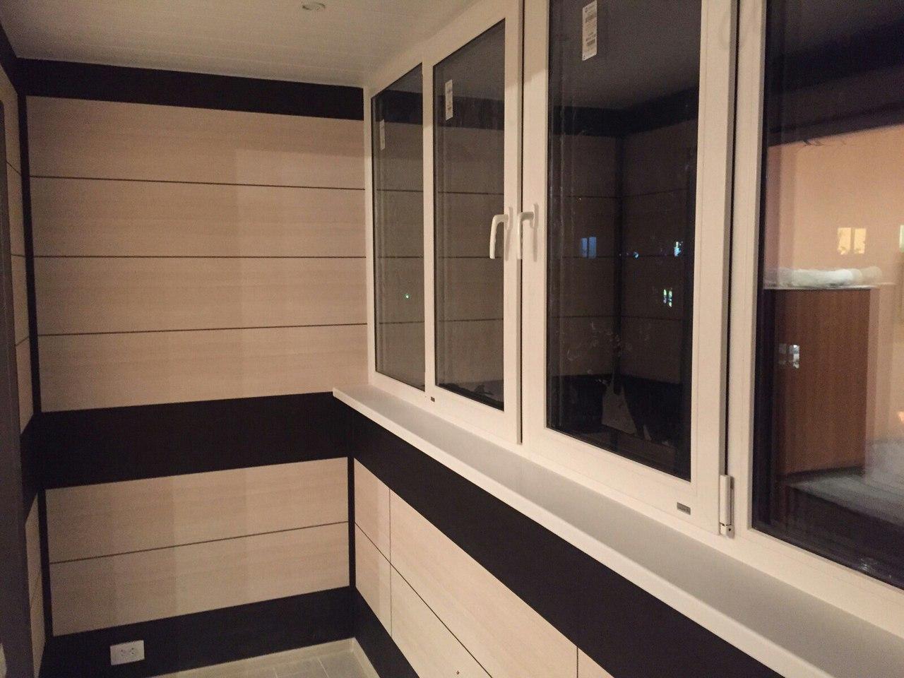 Внутренняя отделка балконов фото панелями.