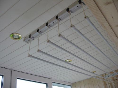 потолочная сушилка на балкон для белья 33 фото лиана