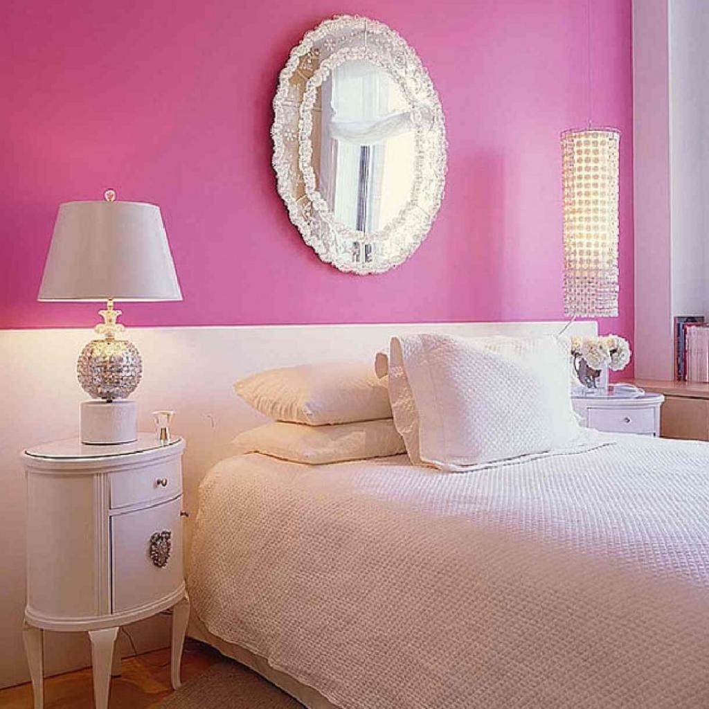 Дизайн спален фото розово белая