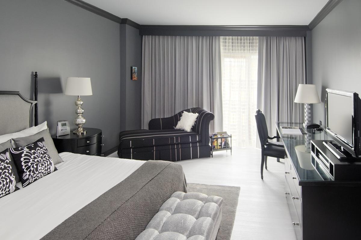 Комната в серых тонах интерьер