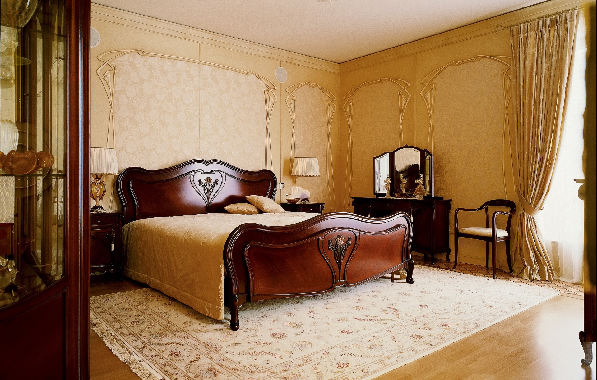 Модерн стиль в интерьере спальни фото