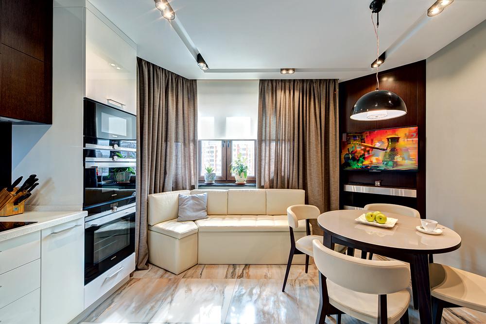 интерьер кухни с диваном советы покажу