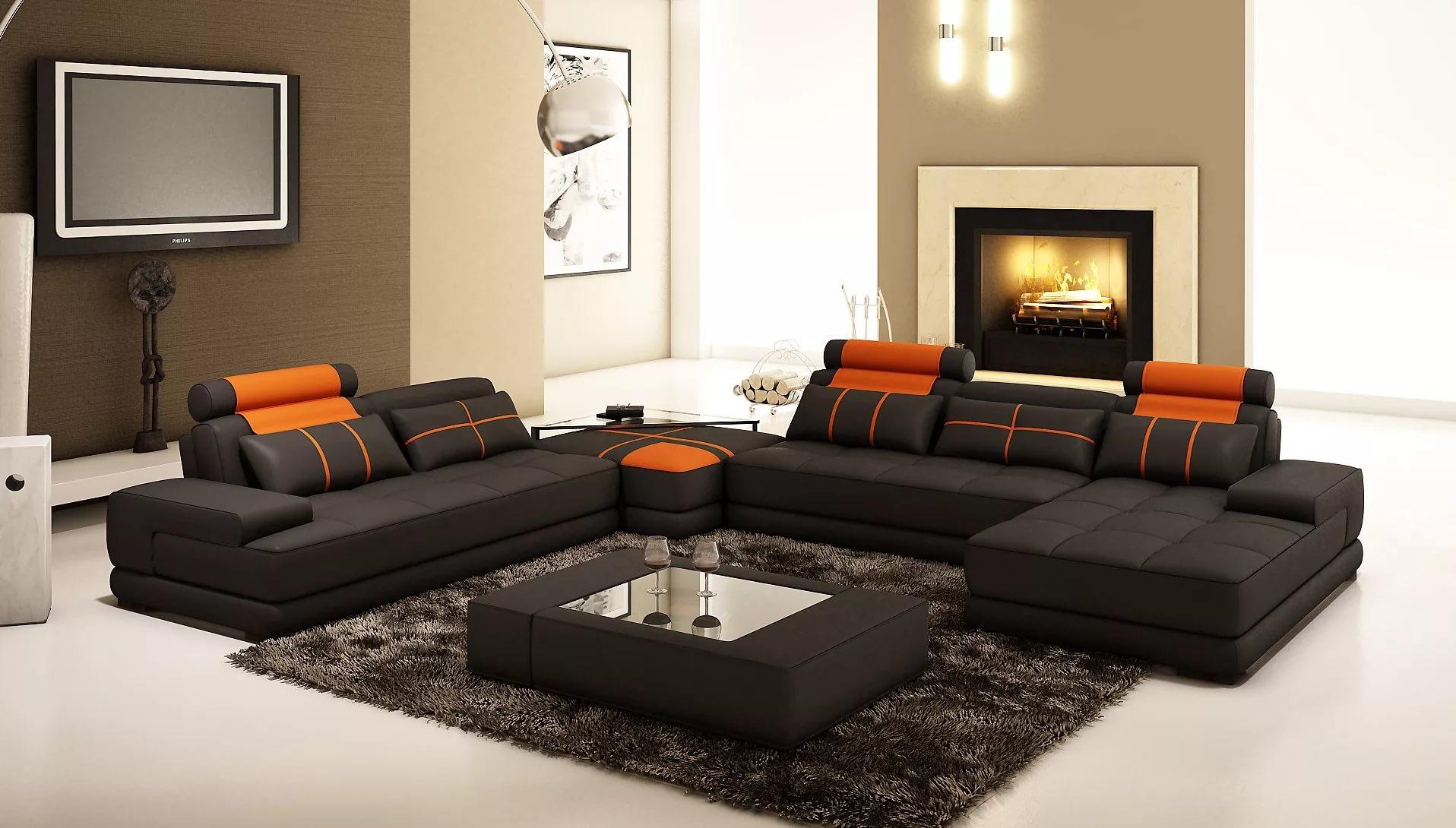 угловой диван в интерьере 60 фото как выбрать в зал как