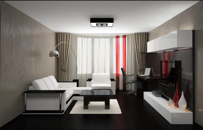 Дизайн комнаты 11 квм с диваном и шкафом для мужчин