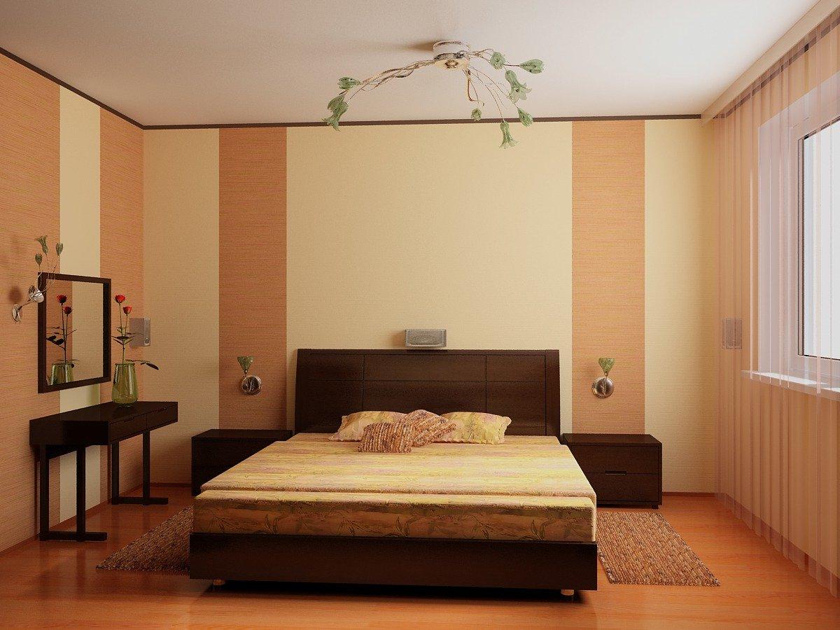 Как сделать дизайн спальни обоями