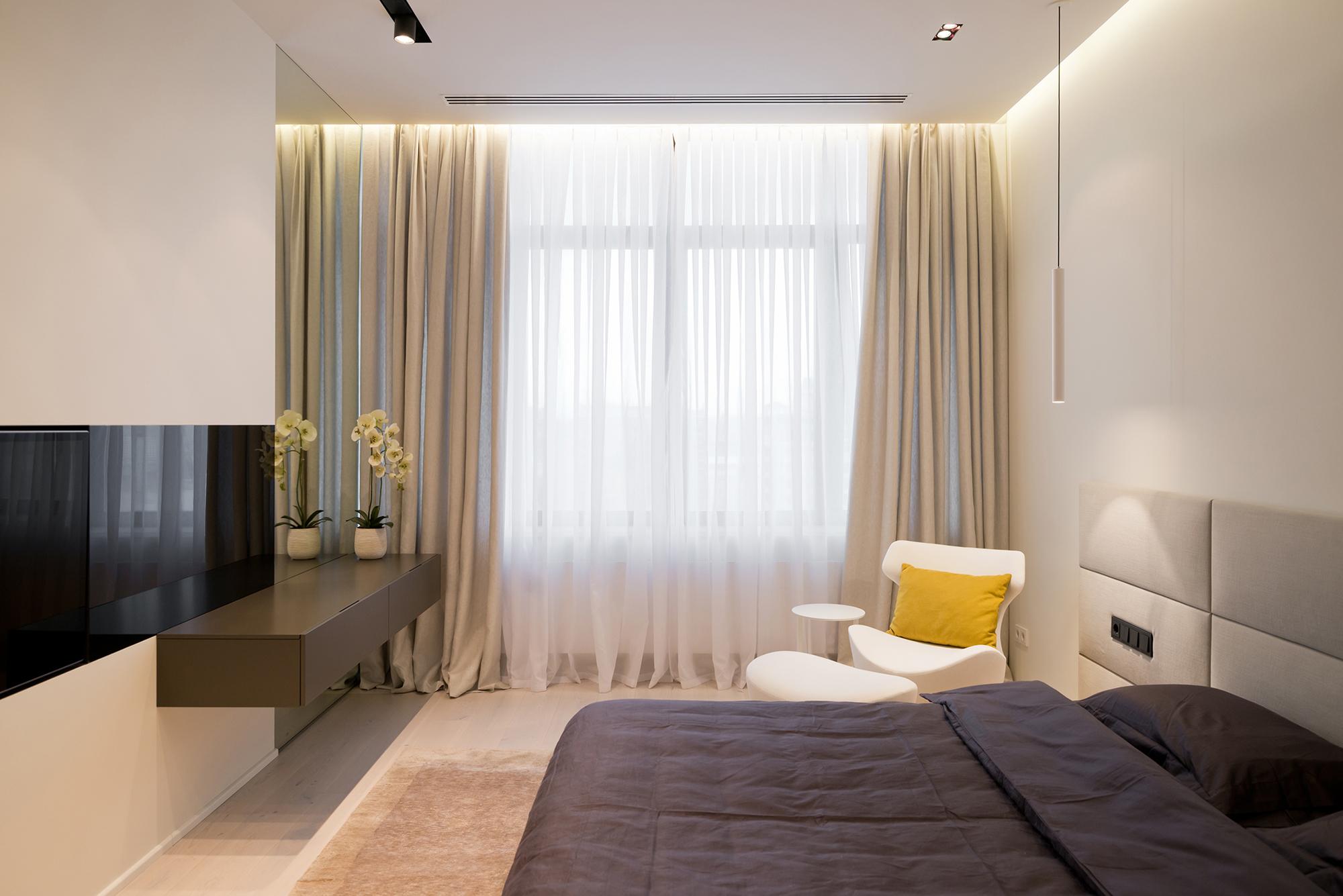 Дизайн тюль и штор для спальни