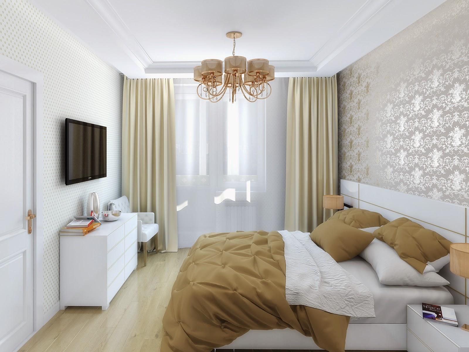 """Дизайн спальни размером 9 кв м """" современный дизайн."""