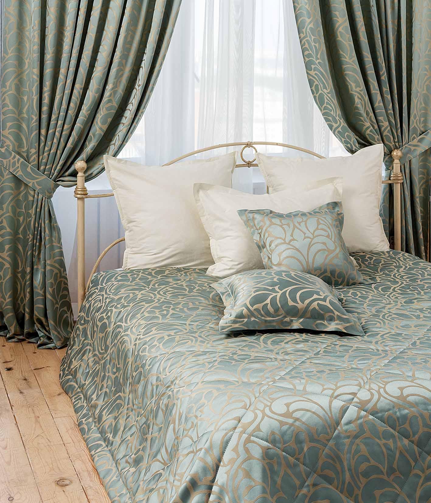 Как сшить шторы с покрывалом для спальни