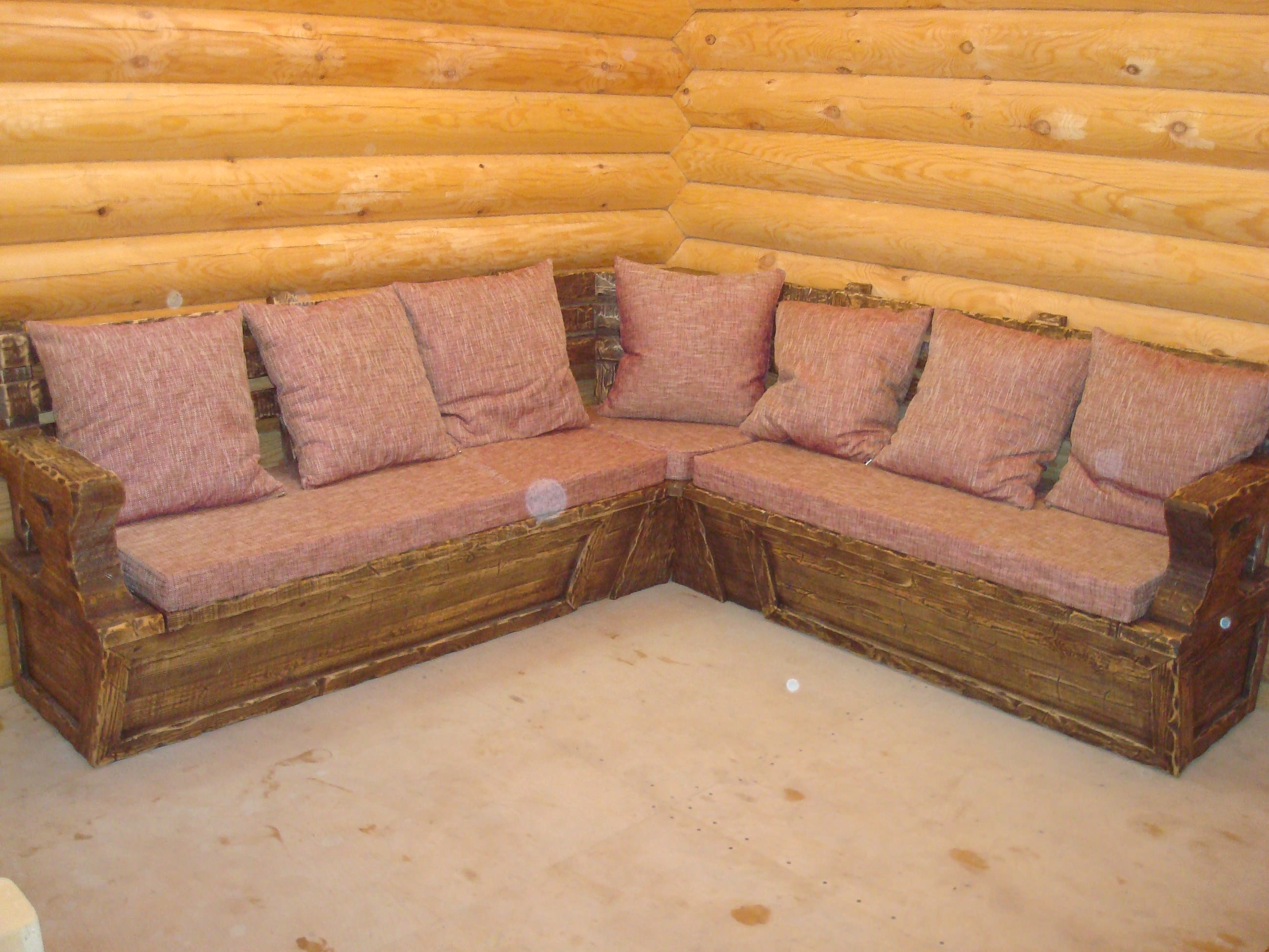 Деревянные диваны для дачи своими руками