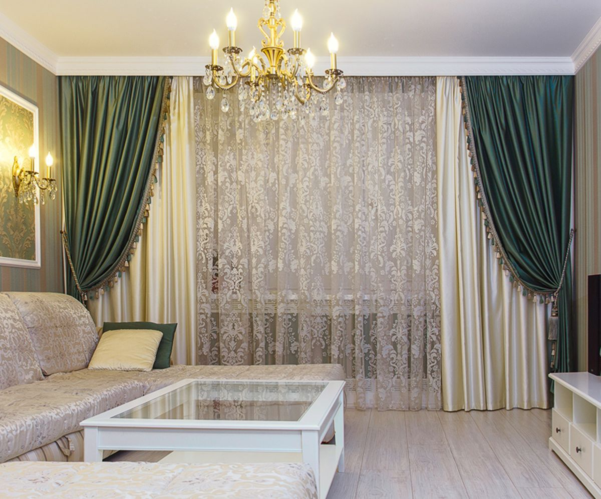 Дизайн штор в гостиную фото 2018 новое