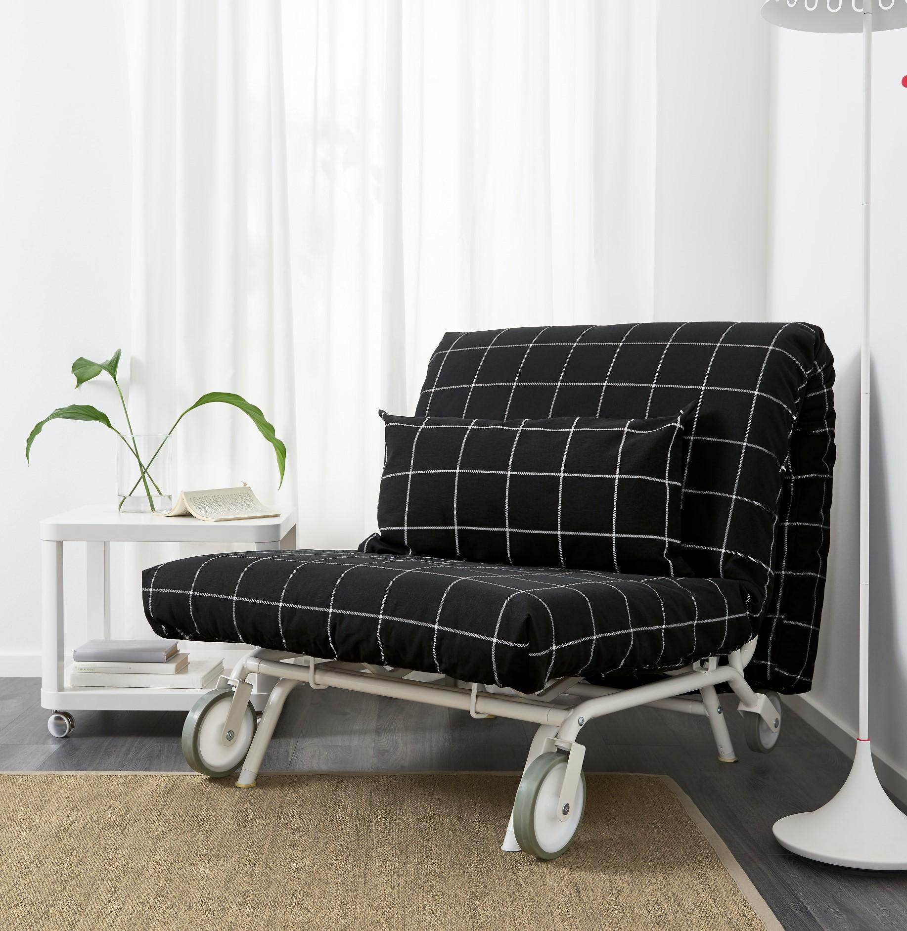 кресло кровать без подлокотников кожа