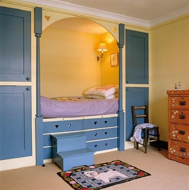 интерьер комнаты с нишей как детская мокром белье было