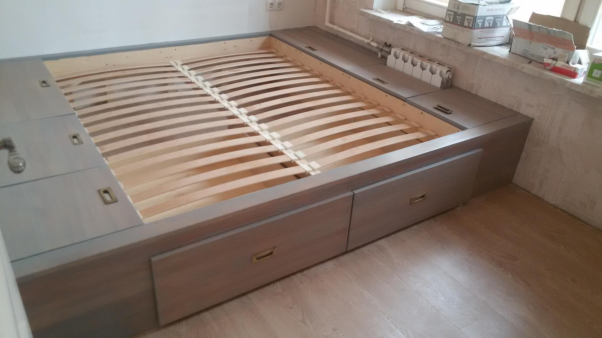 Как сделать кровать подиум своими руками пошагово Фото 89