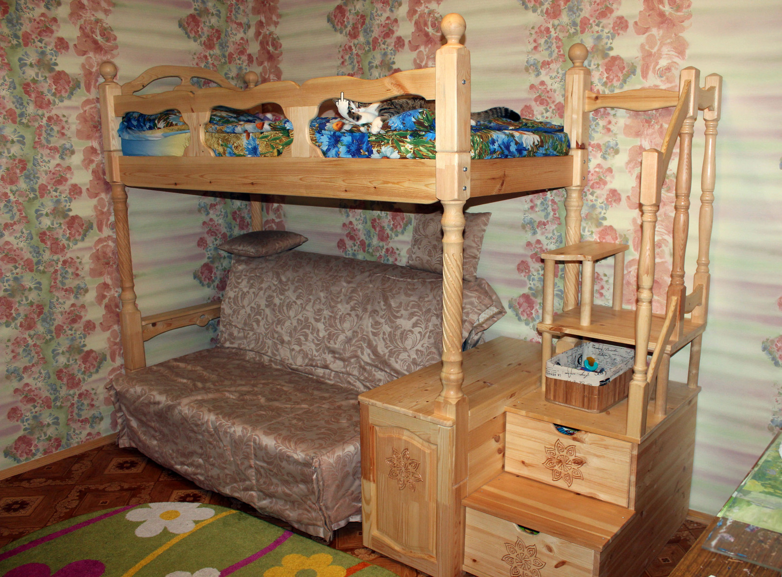 Как сделать детскую двухъярусную кровать своими руками фото 31