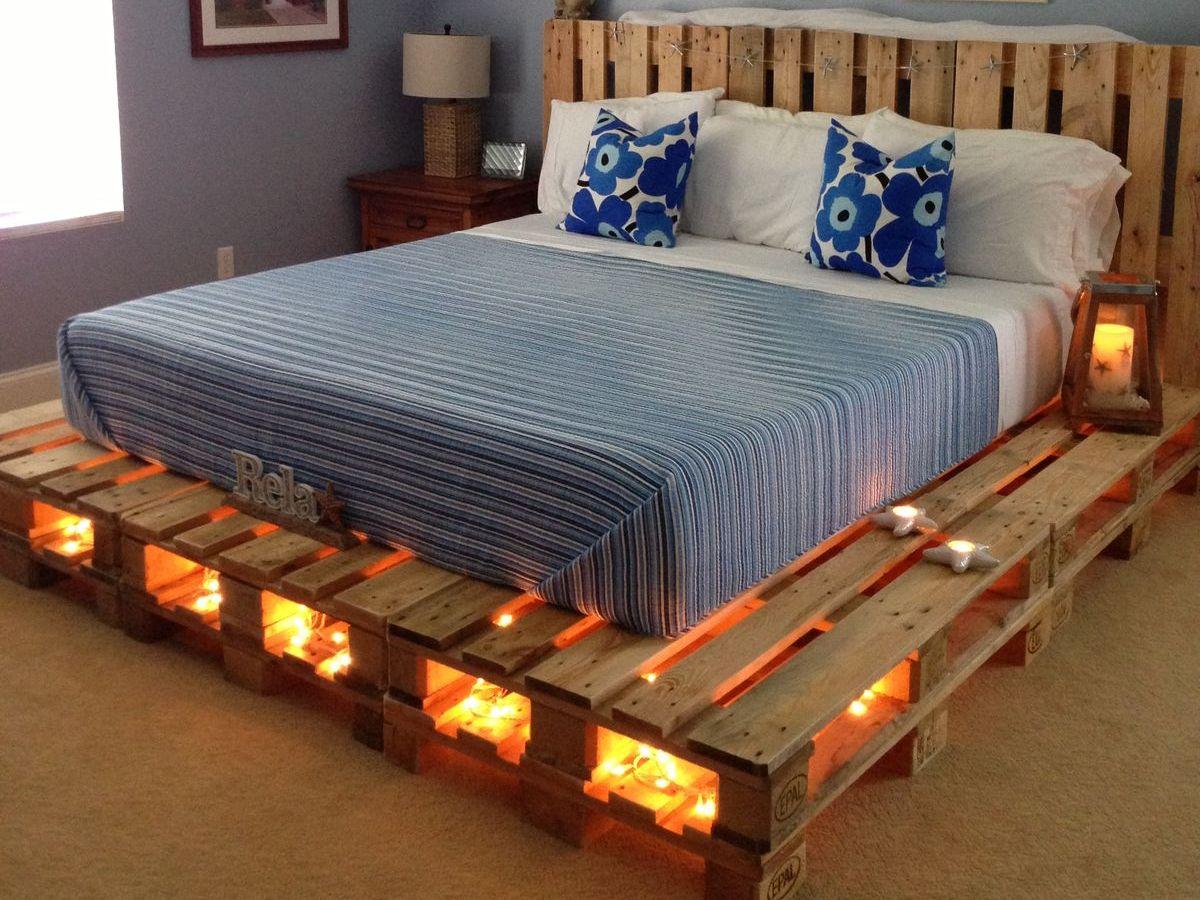 Кровать на поддонах своими руками 38
