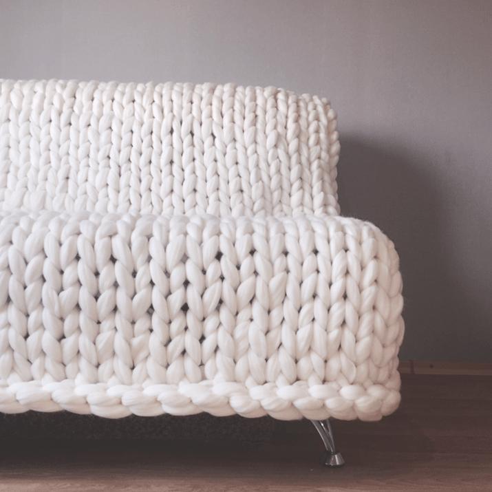 пряжа для вязания пледа крупной вязки