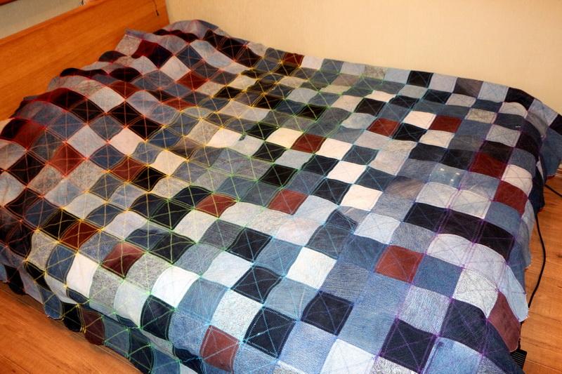 Коврик из старых джинсов своими руками, коврик плетеный из 33
