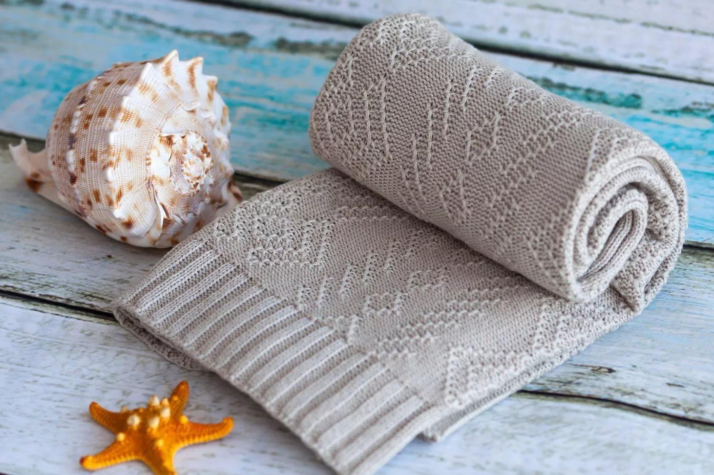 вязаное одеяло для новорожденного 31 фото особенности детских