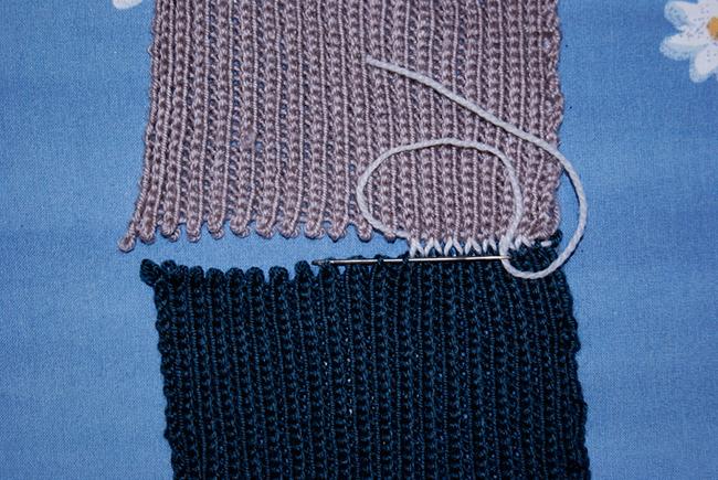 Как сшить вязаное изделие плоским швом