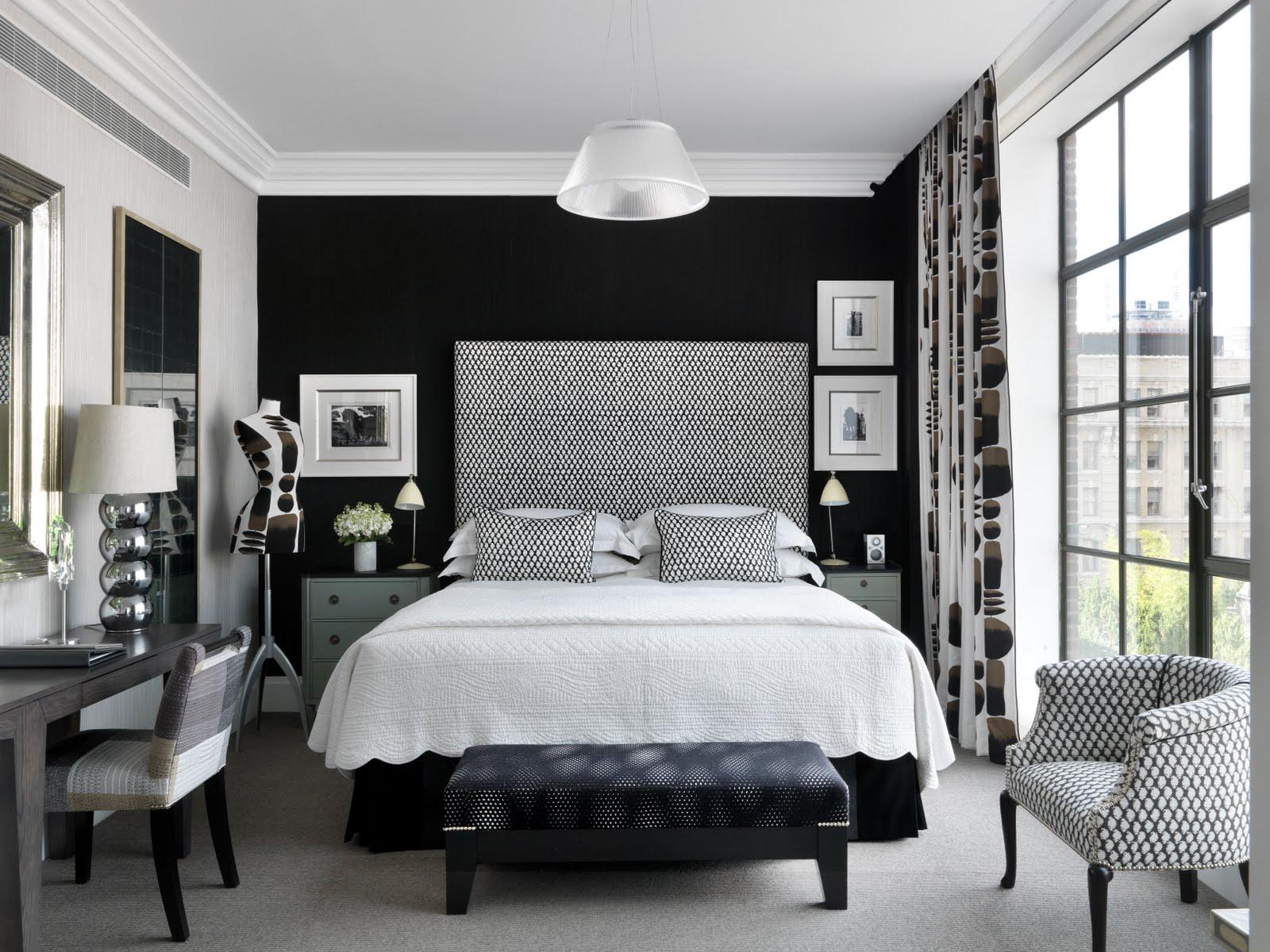 50 Лучших Идей Для Черно -белого Интерьера Спальни, Создаем Яркие Акценты