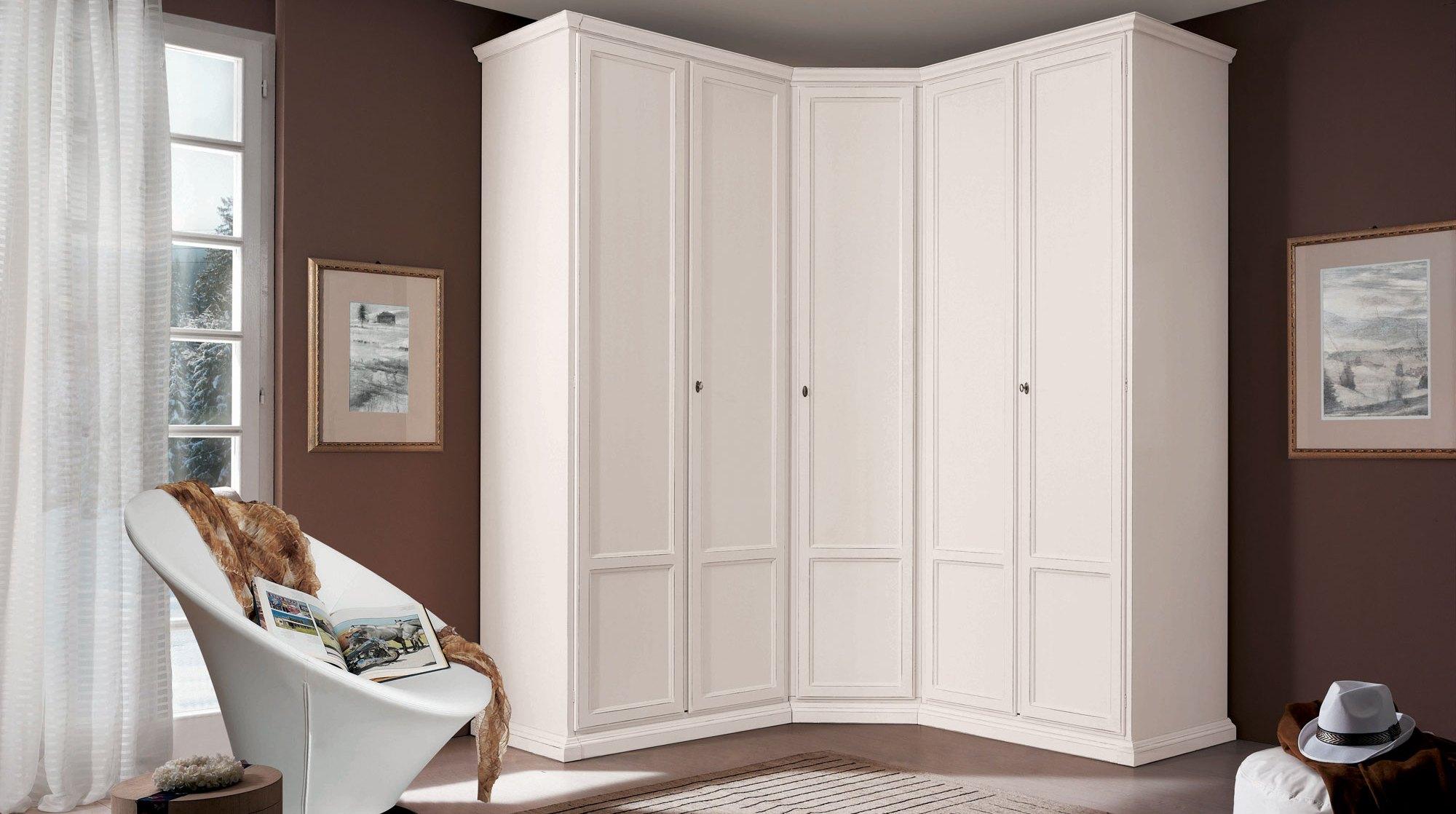 Белые угловые шкафы: модные матовые варианты с зеркалом и в .