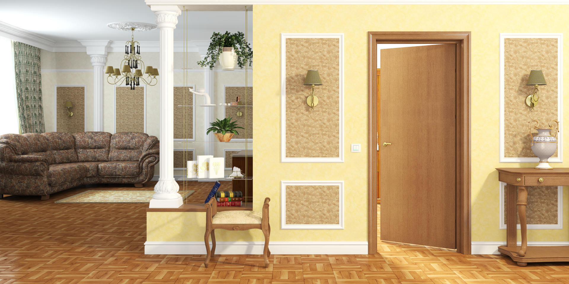 Деревянные двери из сосны глухие и остекленные не крашенные ...