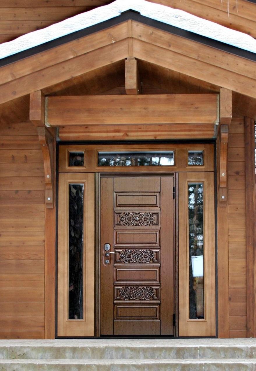 Установка входной металлической двери в деревянном доме своими руками