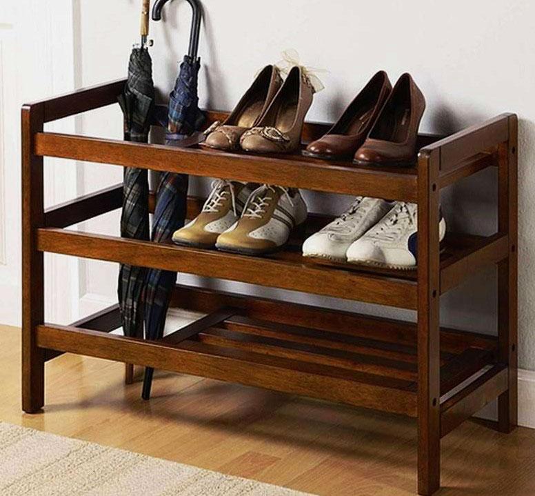 Деревянная этажерка для обуви своими руками 64