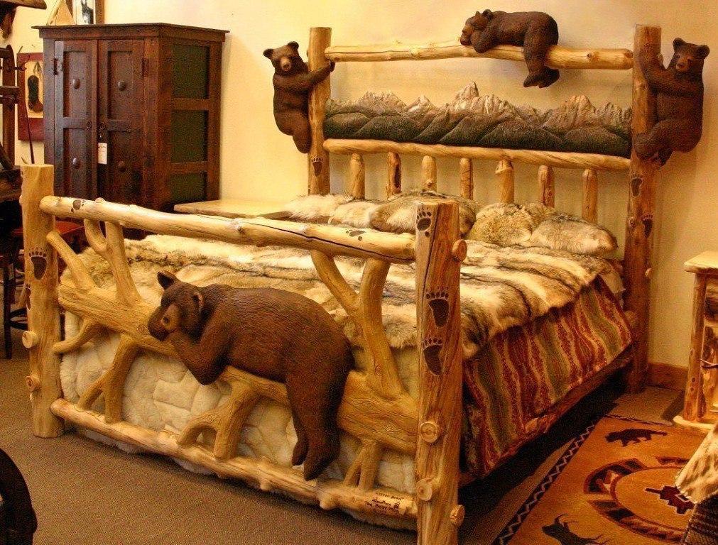 Необычные кровати из дерева