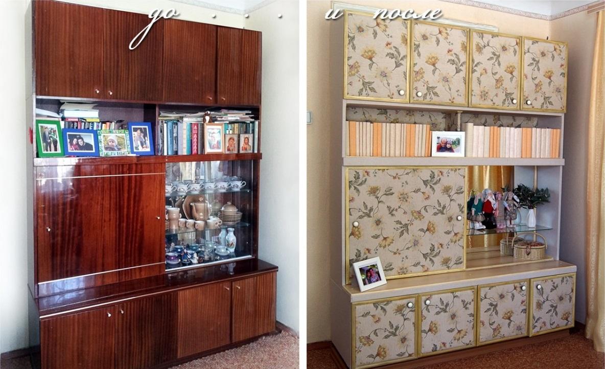 Декорируем старые шкафы своими руками