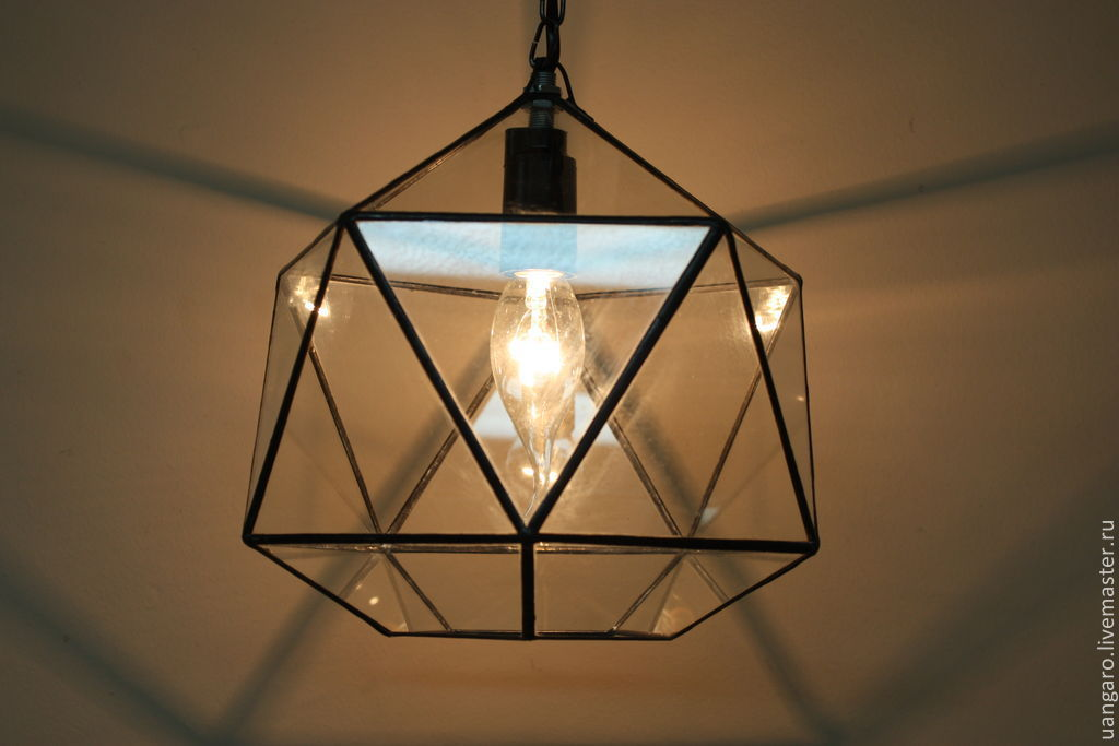 Как сделать светильники из стекла