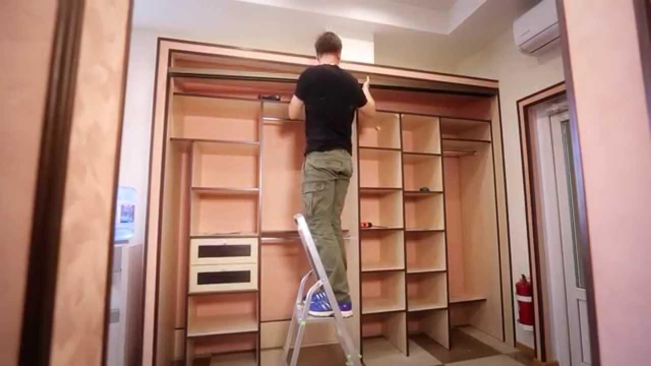 Шкаф-купе своими руками с пошаговым фото
