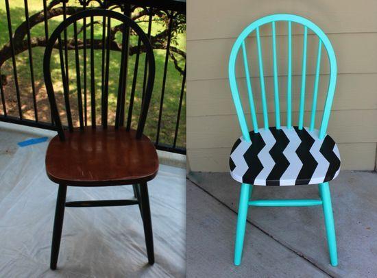 Покраска старого стула