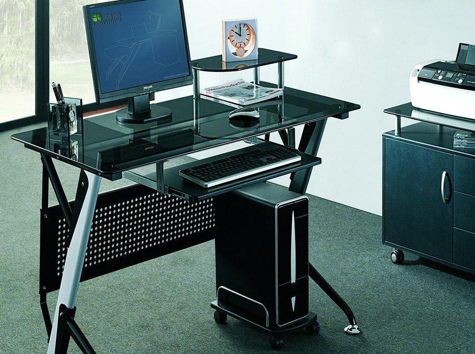 Компьютерный стеклянный стол (42 фото): столы для компьютера.