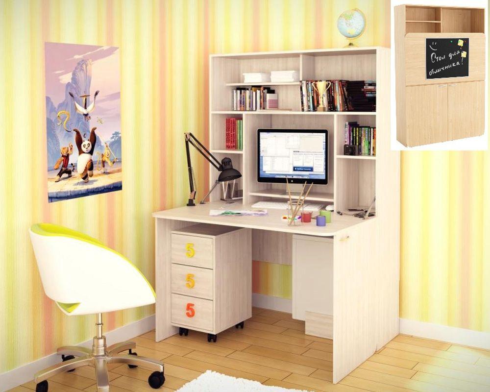 Компьютерный стол со шкафом (72 фото): трансформер с полками.